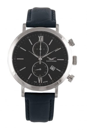 810011401 Pimlico II Chrono, Black, Leather